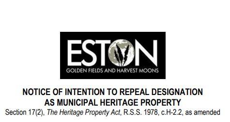 Public Notice to Repeal Heritage Designation