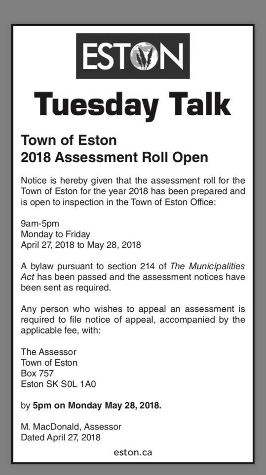 2018 Assessment Roll Open