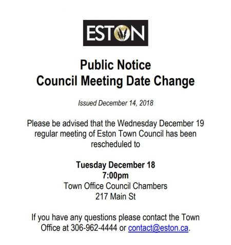 Change of Council Meeting