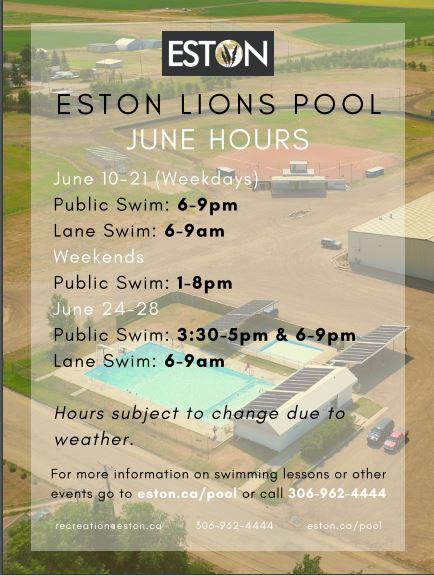 Pool June Hours