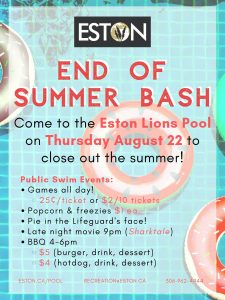 End of Summer Pool Bash