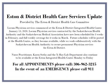 Health Care Service Update