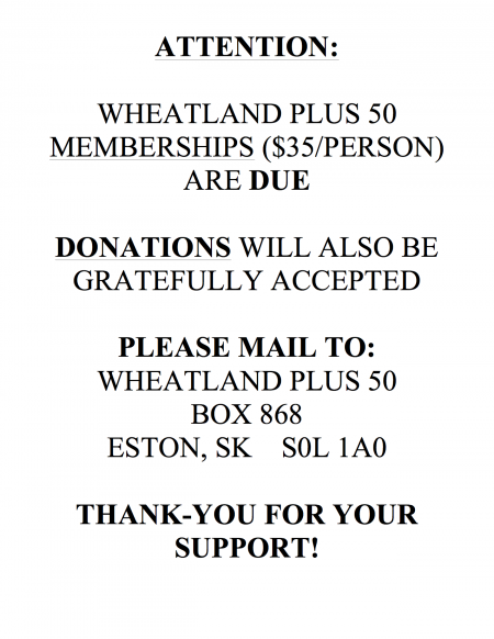 Wheatland Plus 50 Memberships