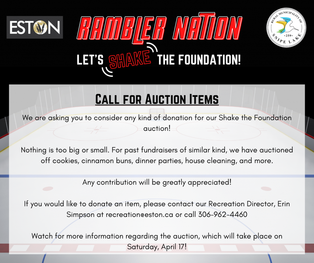 Call for Auction Items